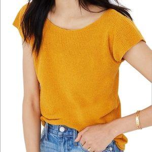Madewell | Marin Sweater Tee Mustard Yellow | EUC